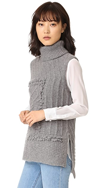 Derek Lam 10 Crosby Oversized Turtleneck Sweater