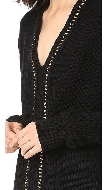 Derek Lam 10 Crosby Sweater with Chain Detail