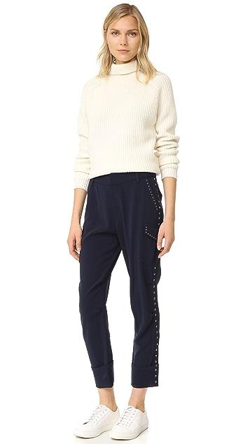 Derek Lam 10 Crosby Легкие брюки-карго с люверсами