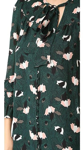 Derek Lam 10 Crosby Dress with Ruffle Sleeves