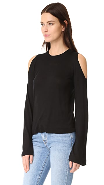 Derek Lam 10 Crosby Cold Shoulder Flare Sleeve Sweater