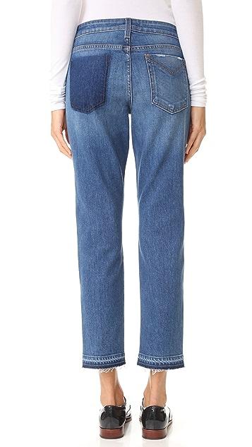 Derek Lam 10 Crosby Mila Mid Rise Slim Boyfriend Jeans