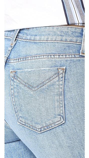 Derek Lam 10 Crosby Jane Mid Rise Flip Flop Flare Jeans