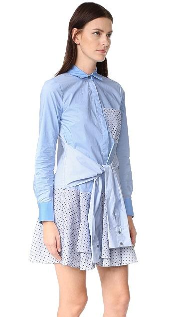 Derek Lam 10 Crosby Tie Waist Shirtdress