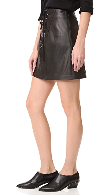 Derek Lam 10 Crosby Miniskirt with Lacing