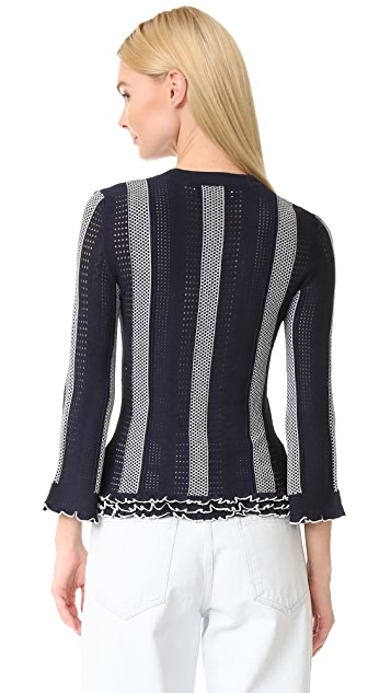 Derek Lam 10 Crosby Ruffle Trim Sweater
