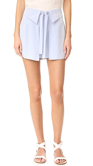 Derek Lam 10 Crosby Wrap Front Shorts