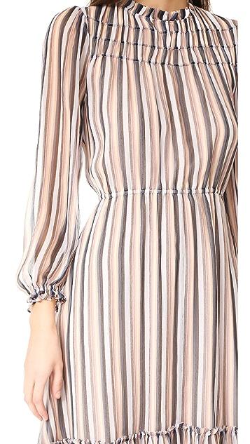 Derek Lam 10 Crosby Bell Sleeve Ruffled Dress