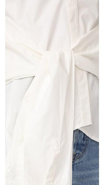 Derek Lam 10 Crosby Tie Front Sleeveless Top