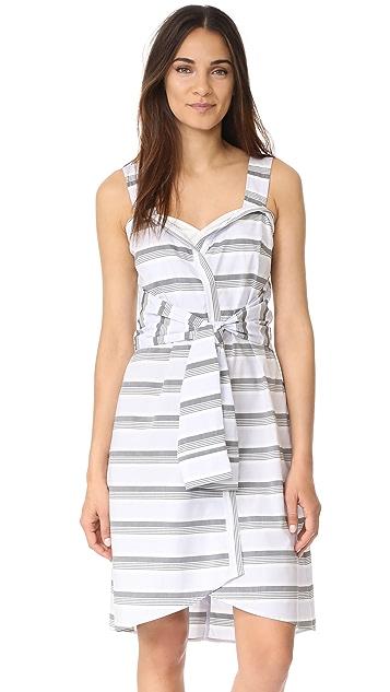 Derek Lam 10 Crosby Sleeveless Tie Front Dress