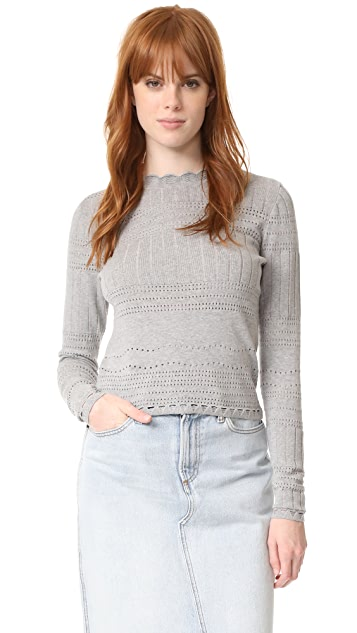 Derek Lam 10 Crosby L/S Crew Neck Sweater