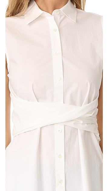 Derek Lam 10 Crosby Twist Front Shirt