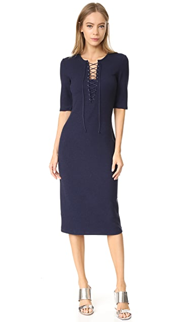 Derek Lam 10 Crosby Lace Up T-Shirt Dress