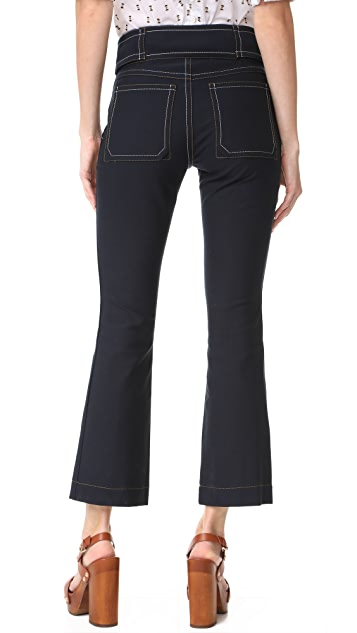 Derek Lam 10 Crosby Utility Cropped Flare Trousers
