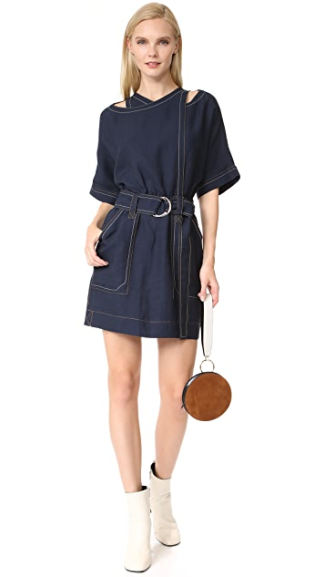 Derek Lam 10 Crosby Belted Utility Dress