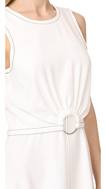 Derek Lam 10 Crosby Sleeveless Dress with Ring Detail