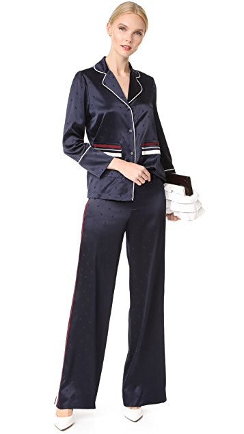 Derek Lam 10 Crosby Wide Leg Pajama Pants