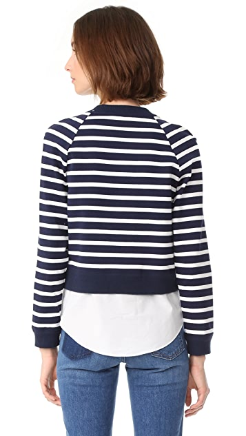 Derek Lam 10 Crosby Sweatshirt with Buttons