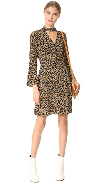 Derek Lam 10 Crosby Cascade Shift Dress with Bell Sleeves