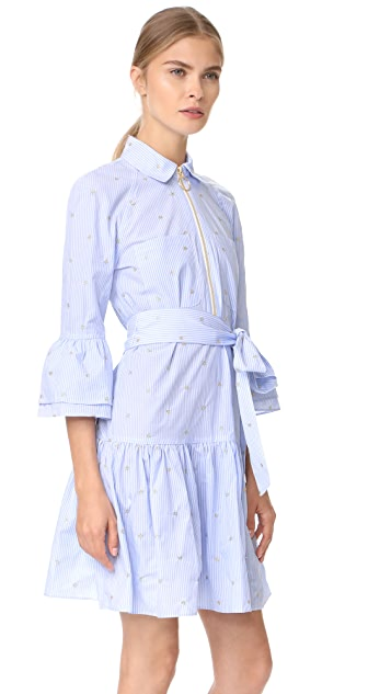 Derek Lam 10 Crosby Belted Ruffle Shirtdress