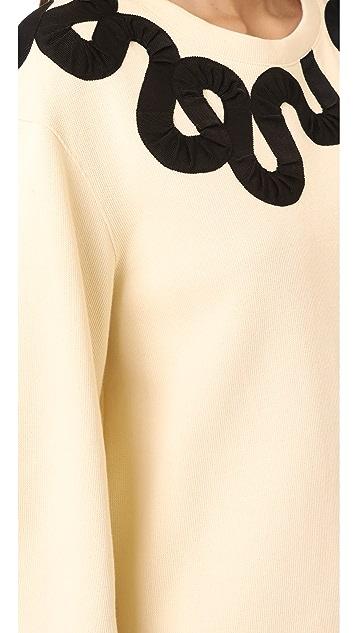 Derek Lam 10 Crosby Sweater with Ribbon Trim