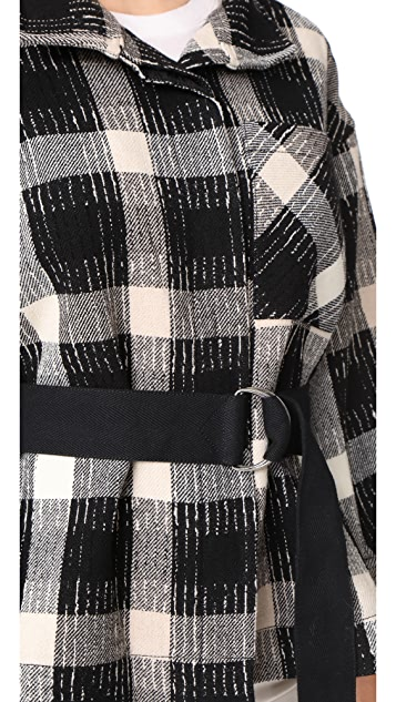 Derek Lam 10 Crosby Belted Drop Shoulder Jacket