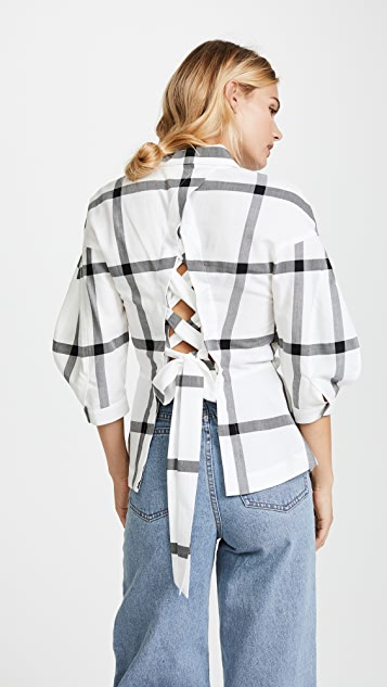 030a4ddff Derek Lam 10 Crosby Buttondown Shirt with Lace Up Back | SHOPBOP