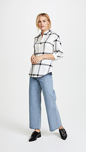 Derek Lam 10 Crosby Buttondown Shirt with Lace Up Back