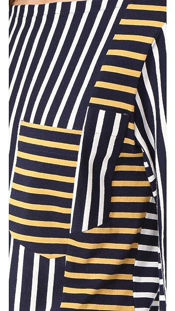 Derek Lam 10 Crosby Stripe Boat Neck Pullover