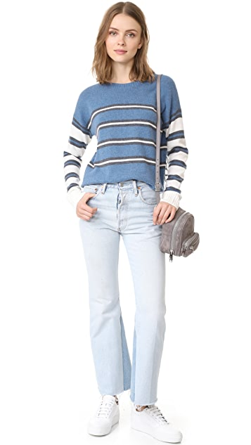 Derek Lam 10 Crosby Striped Crew Neck Sweater
