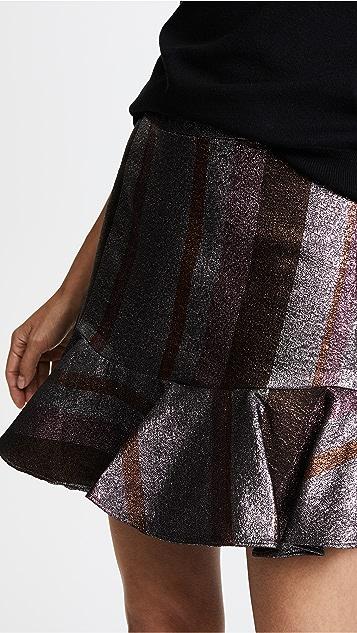 Derek Lam 10 Crosby Ruffle Hem Flounce Skirt