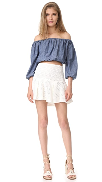 Derek Lam 10 Crosby Flared Skirt