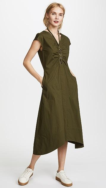 Derek Lam 10 Crosby Grommet & Lacing Detailed Dress