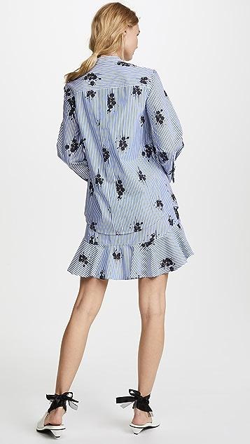 Derek Lam 10 Crosby Shirtdress with Ruffle Skirt