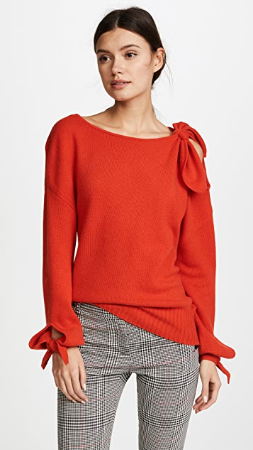 Derek Lam 10 Crosby Cashmere Sweater with Tie Detail