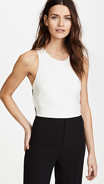 Derek Lam 10 Crosby Cropped Shell With Elastic Back