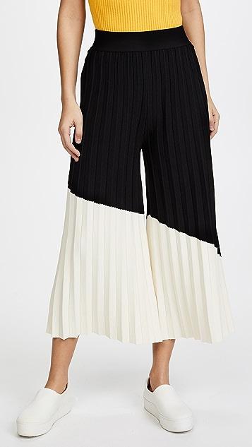Derek Lam 10 Crosby Colorblocked Pleated Pants