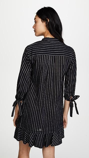 Derek Lam 10 Crosby Long Sleeve Shirtdress with Ties