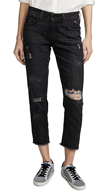 Derek Lam 10 Crosby Mila Mid Rise Slim Girlfriend Jeans