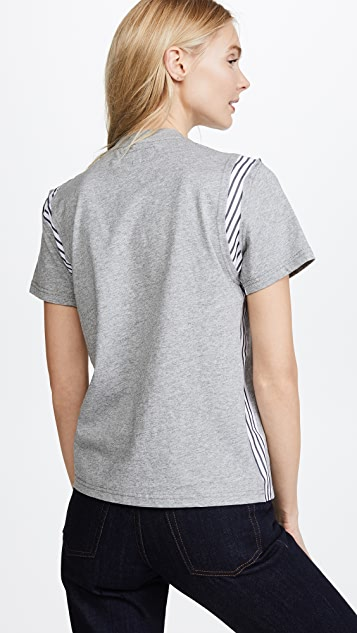 Derek Lam 10 Crosby Mixed Media Tee