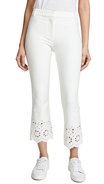 Derek Lam 10 Crosby Trouser with Eyelet Embroidery