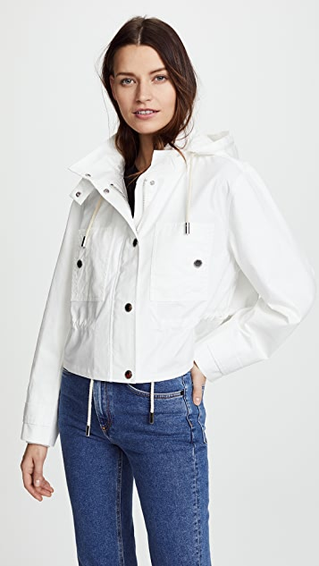 Derek Lam 10 Crosby Cropped Hooded Parka