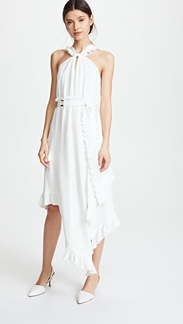 Derek Lam 10 Crosby Asymmetrical Halter Dress