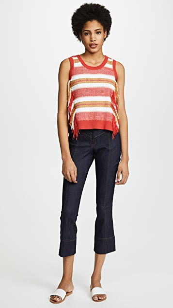 Derek Lam 10 Crosby Fringe Top