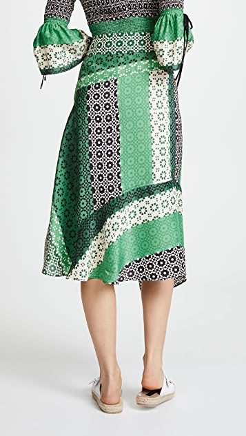 Derek Lam 10 Crosby Asymmetrical Wrap Skirt