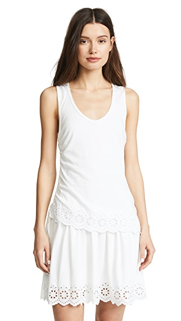 Derek Lam 10 Crosby Scalloped Hem Dress
