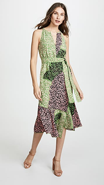 Derek Lam 10 Crosby Belted Dress - Carnation
