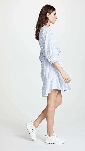 Derek Lam 10 Crosby Belted Dress with Placket