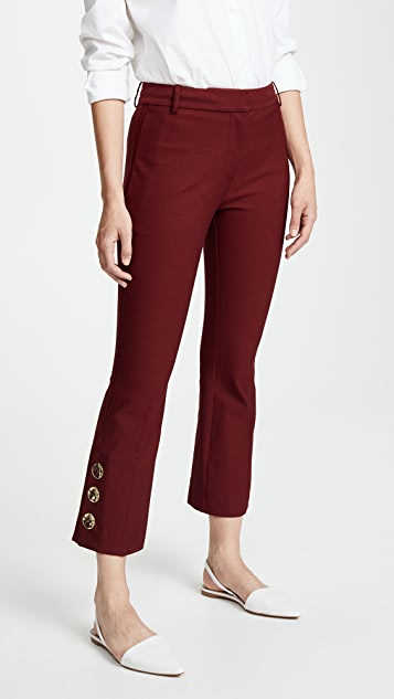 Derek Lam 10 Crosby Trousers with Slit Hem Detail