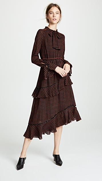 Derek Lam 10 Crosby Tiered Midi Dress